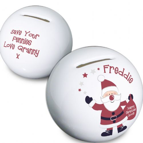 Personalised Santa Money Box